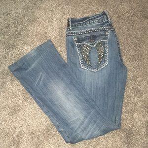 EUC Miss Me Fallen Angel Jeans sz. 30